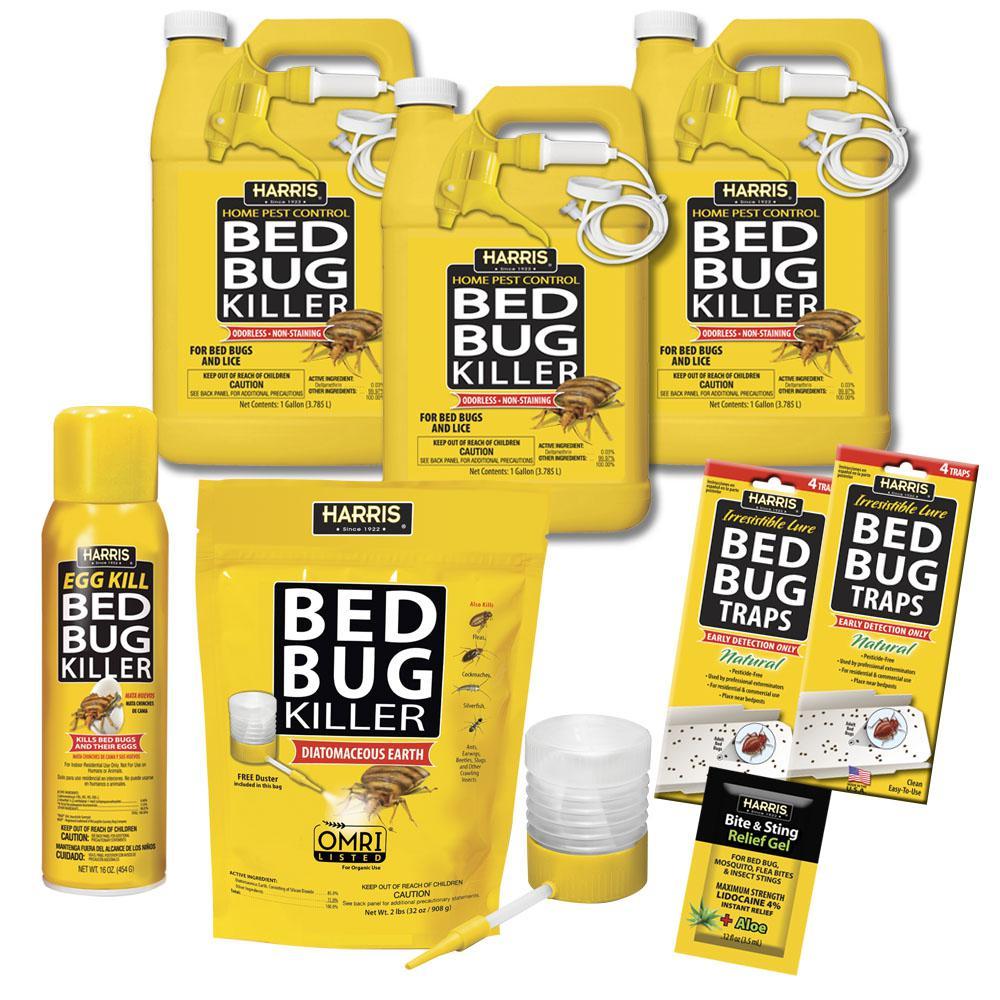 Harris Bed Bug Commercial Kit Bbkit Bizvp The Home Depot