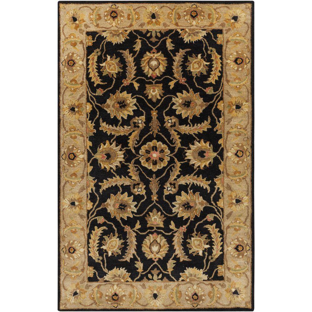 Aurelius Black 5 ft. x 8 ft. Indoor Area Rug