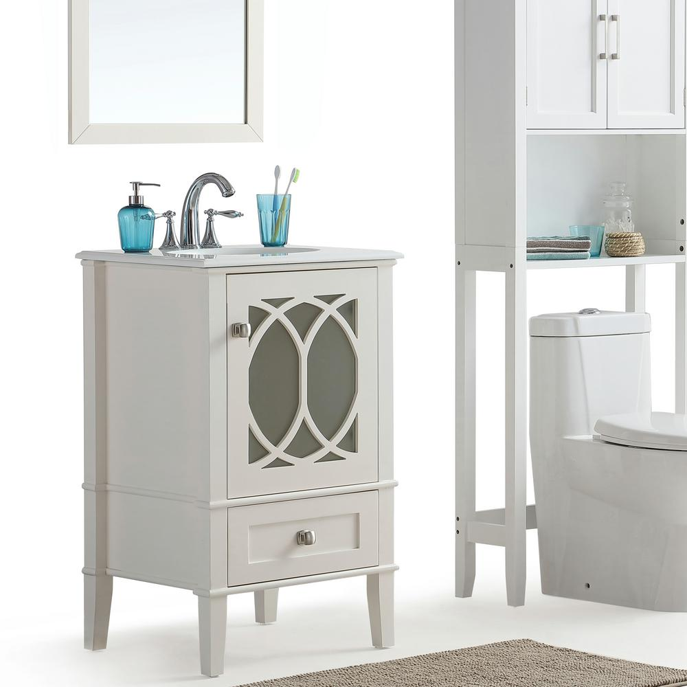 Simply Home Paige 21 in. W x 19 in. D x 34.5 in. H Vanity...
