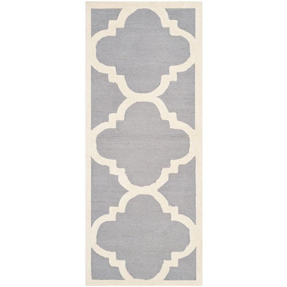 Safavieh Cambridge Silver/Ivory 2 ft. 6 in. x 12 ft. Runner