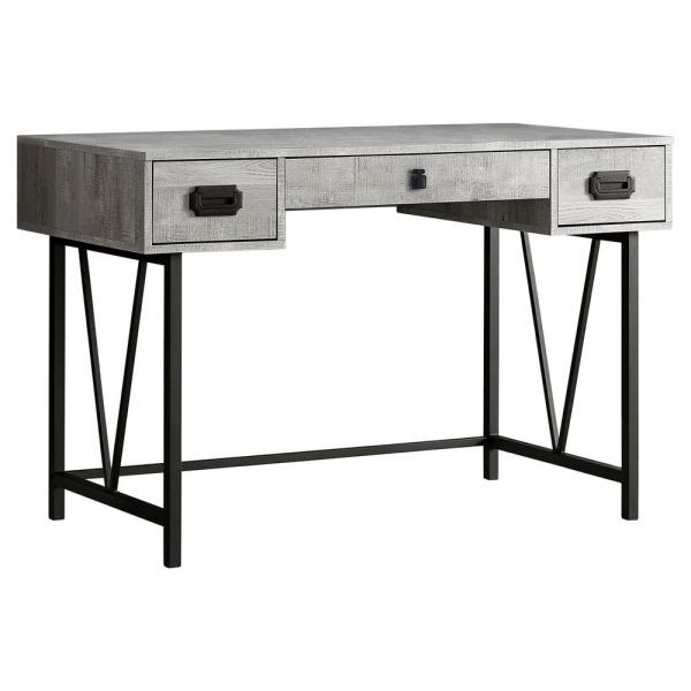 Jasmine 1-Piece Grey and Black Computer Desk