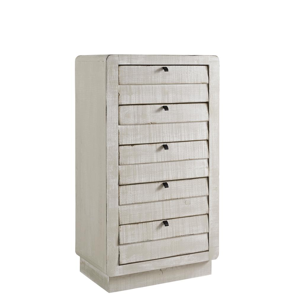 Bliss 5-Drawer Gray Chalk Chest 53 in. H x 30 in. W x 18 in. D