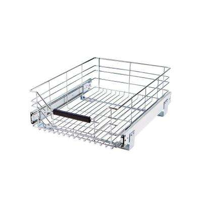 6.375 in. H x 14 in. W x 17.75 in. D Steel Wire Sliding Storage Drawer