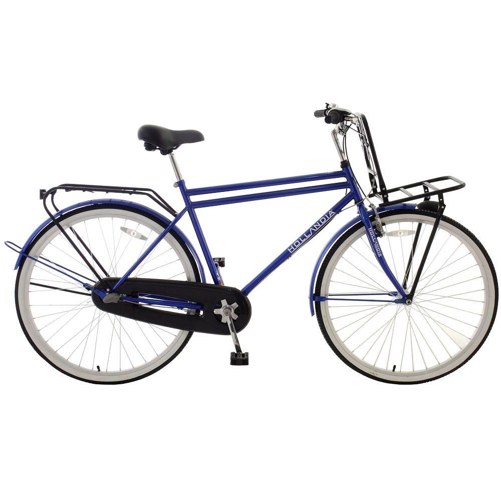Hollandia Amsterdam M1 Dutch Cruiser Bicycle, 28 inch Wheels, 19 inch Frame, Men's Bike in Blue by Hollandia