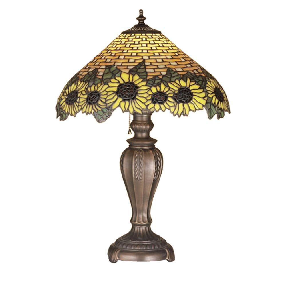 Illumine 1 Light Wicker Sunflower Table Lamp