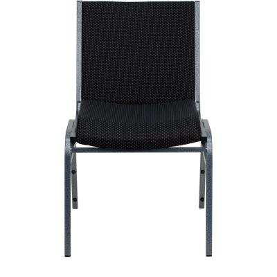 Black Patterned Fabric Stack Chair