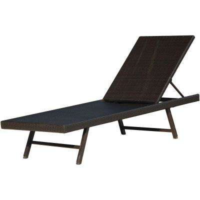 Orleans Woven Metal Outdoor Chaise Lounge Chair