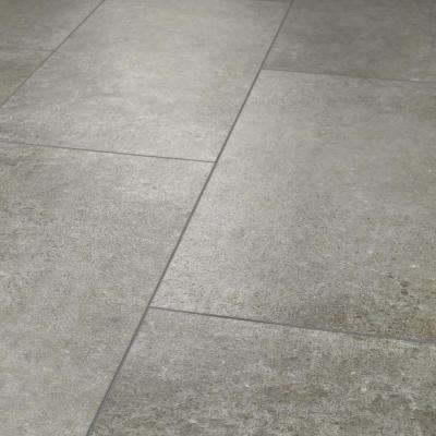 Vista Atlantic Grey 12 In X 24 Resilient Vinyl Tile 15 83 Sq Ft
