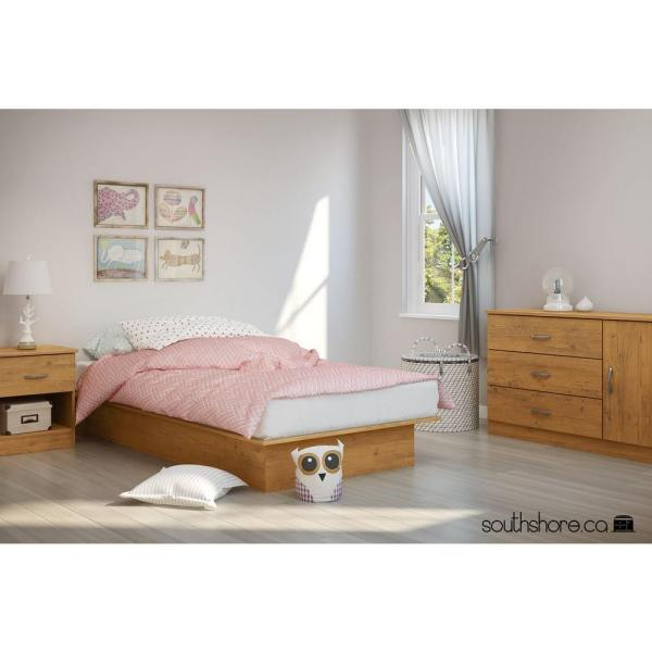 South Shore Libra Country Pine Twin Size Platform Bed 3132235 The