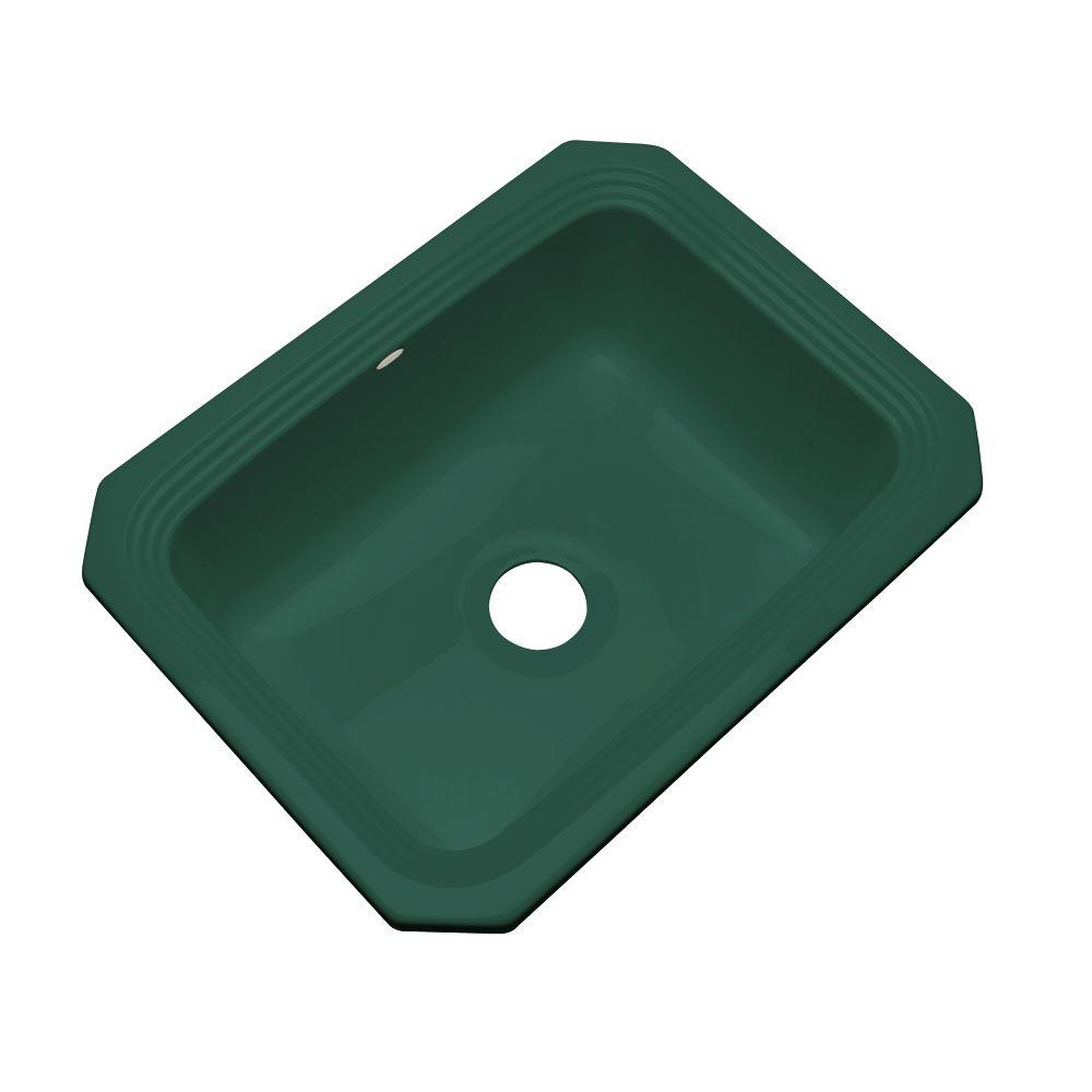 Thermocast Rochester Undermount Acrylic 25 in. Single Bowl Kitchen Sink in Rain Forest