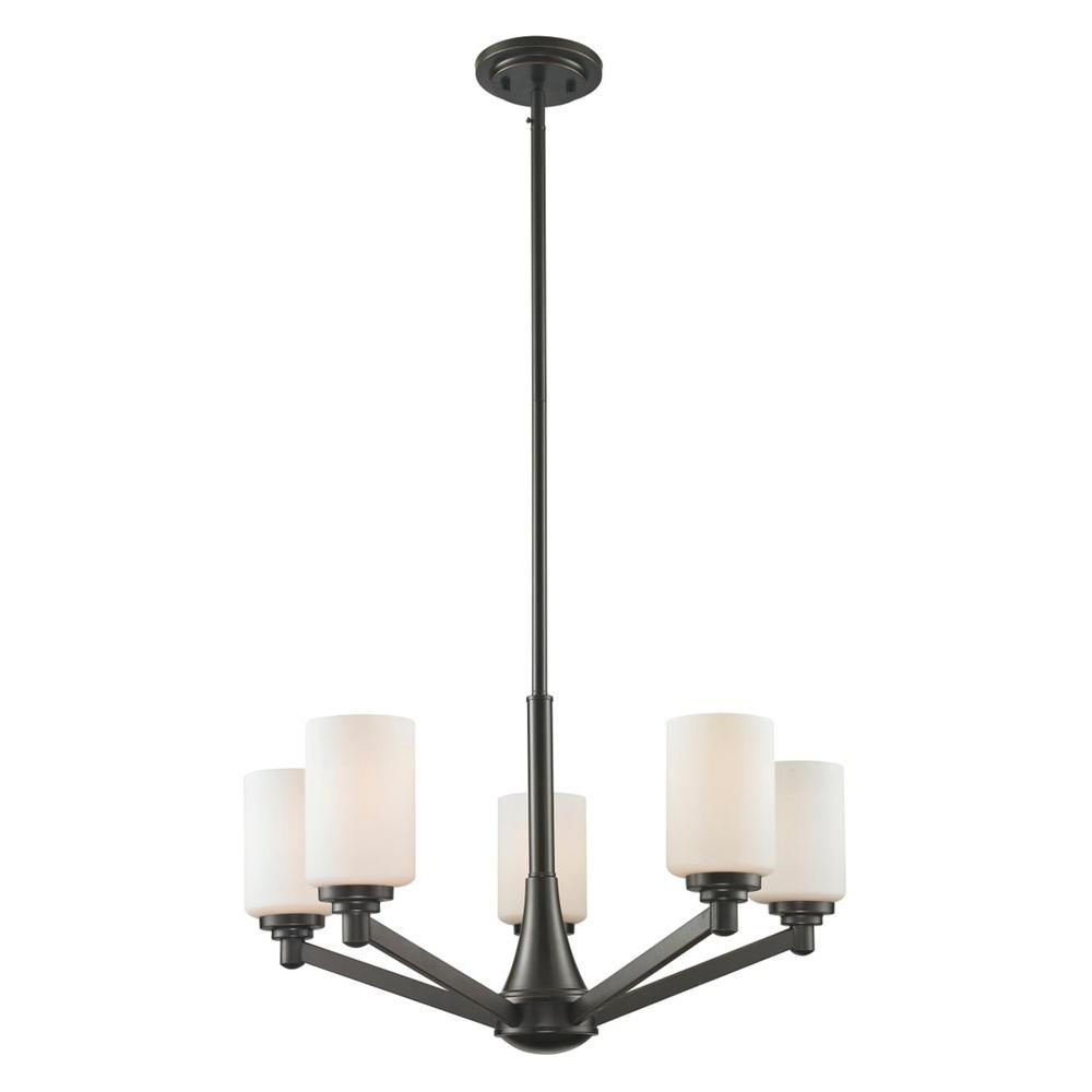 Chic 5-Light Coppery Bronze Chandelier