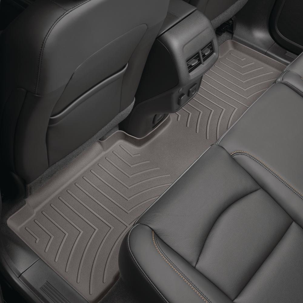 Toyota Sienna Seat Covers >> Weathertech Cocoa Rear Floorliner Toyota Sienna 2011 Covers 2nd And 3rd Row Foot Areas With 2nd Row Console Requires Trim Marked