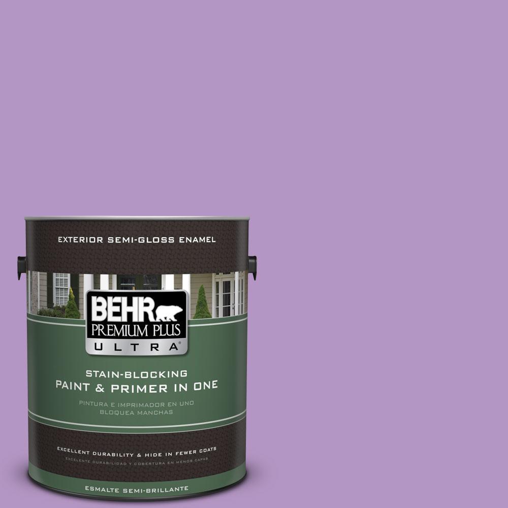 BEHR Premium Plus Ultra 1-gal. #660B-5 Atlantic Tulip Semi-Gloss Enamel Exterior Paint