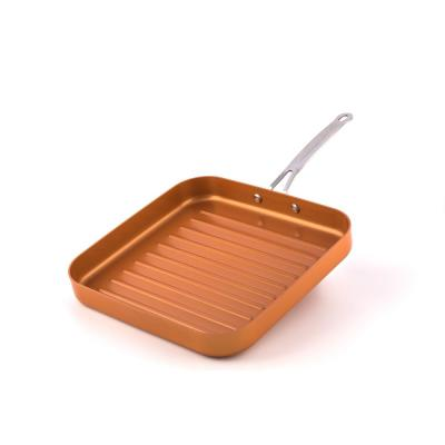 11 in. Non-Stick Deep Square Grill Pan