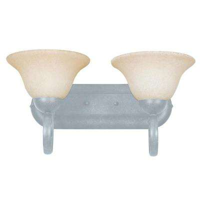 Tutt 2-Light Satin Nickel Bath Vanity Light
