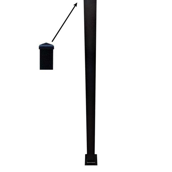 3 in. x 3 in. x 96 in. Textured Black Structural Aluminum Post