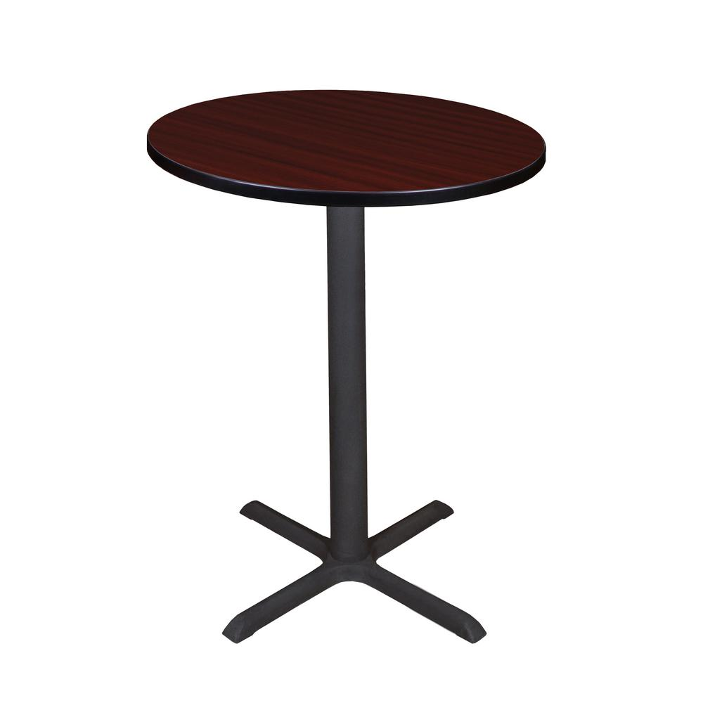 Regency Cain Mahogany (Brown) 30 in. Round Cafe Table