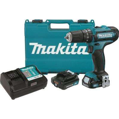 12-Volt Max CXT Lithium-Ion 3/8 in. Cordless Hammer Driver-Drill Kit with (2) Batteries (2.0 Ah), Charger, and Hard Case