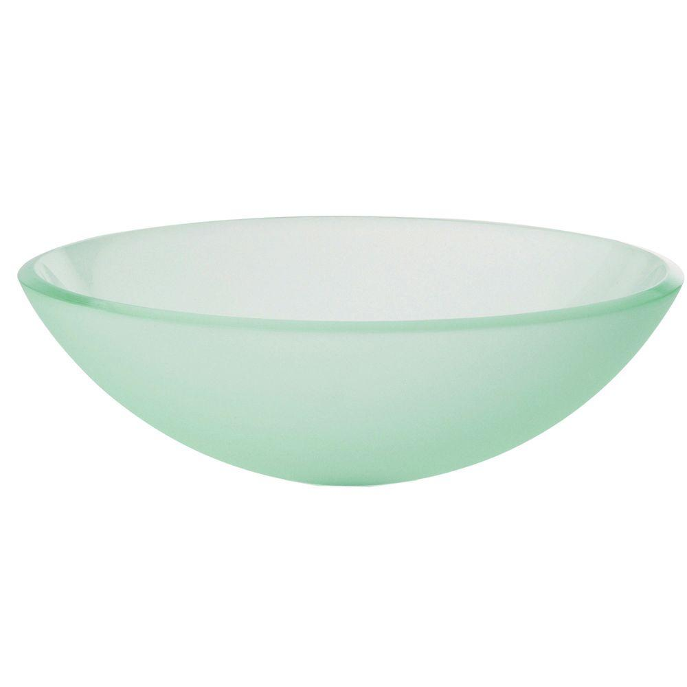 DECOLAV Translucence Vessel Sink In Frosted White