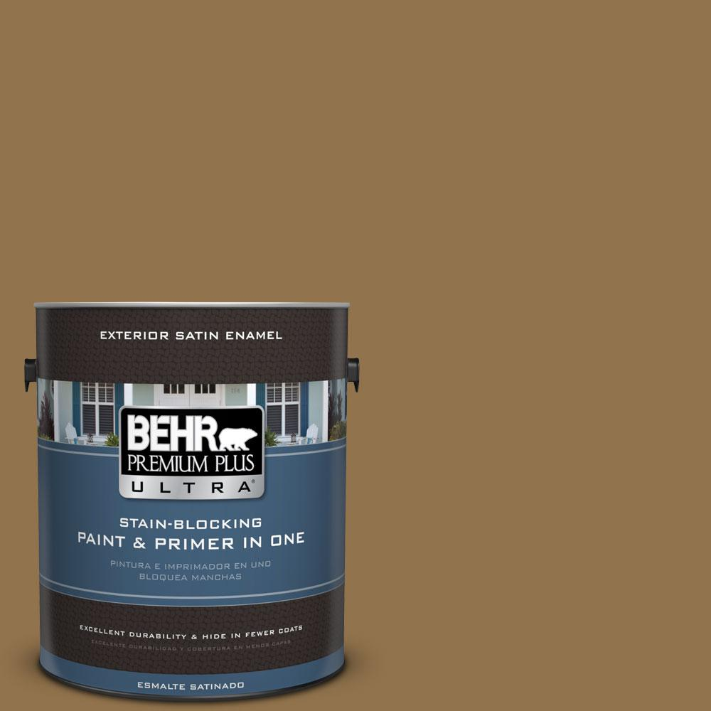 BEHR Premium Plus Ultra 1-gal. #N290-7 Marrakech Brown Satin Enamel Exterior Paint