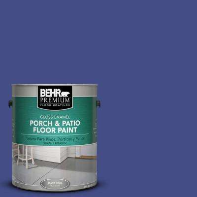 1 gal. #P550-7 Purple Prince Gloss Interior/Exterior Porch and Patio Floor Paint