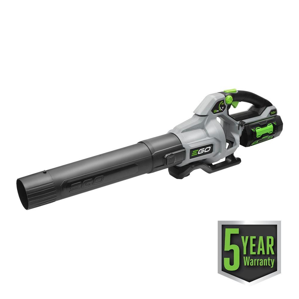 168 MPH 580 CFM Variable-Speed 56-Volt Lithium-ion Cordless Blower with 5.0Ah