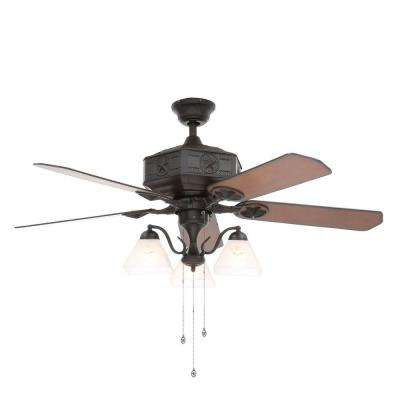 Lonestar II 52 in. Indoor Natural Iron Ceiling Fan with Light Kit