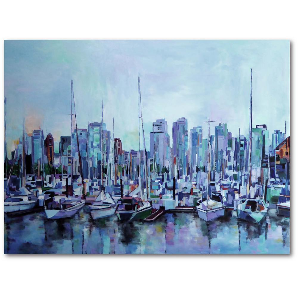 Courtside Market Harbour Views 16 in. x 20 in. Gallery-Wrapped Canvas Wall Art, Multi Color was $70.0 now $38.93 (44.0% off)