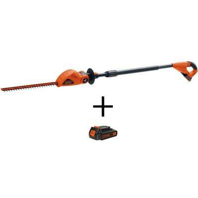 18 in. 20-Volt Max Lithium-Ion Cordless Pole Hedge Trimmer with Bonus 1.5Ah 20-Volt Max Lithium-Ion Battery Pack