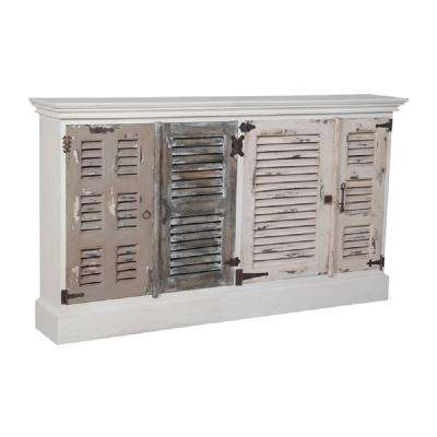 Waterfront Garden Lattice White Buffet