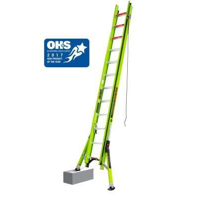 HyperLite with Sumo 24 ft. TYPE IA Fiberglass Extension Ladder
