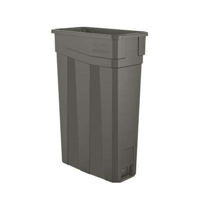 Slim 23 Gal. Gray Plastic Trash Can