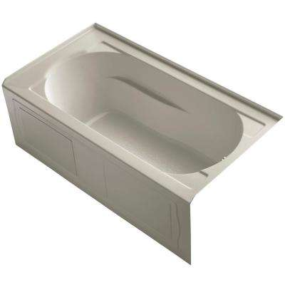 Devonshire 5 ft. Right Drain Rectangular Alcove Soaking Tub in Sandbar with Bask Heated Surface