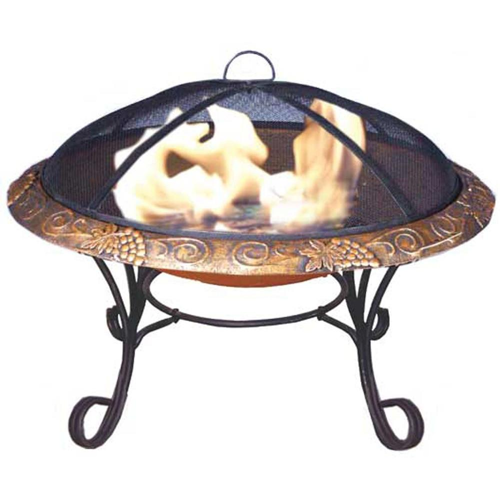 Deeco Consumer Products Chateau Merlot Cast Iron Fire Pit-DISCONTINUED