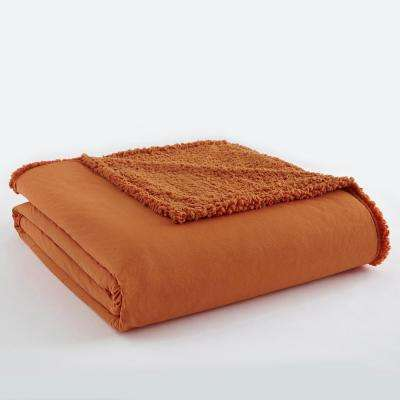 King Spice Sherpa Back Polyester Blanket