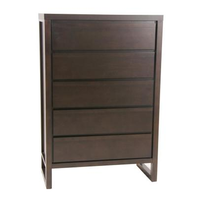 Athena 5-Drawer Dark Chocolate Chest