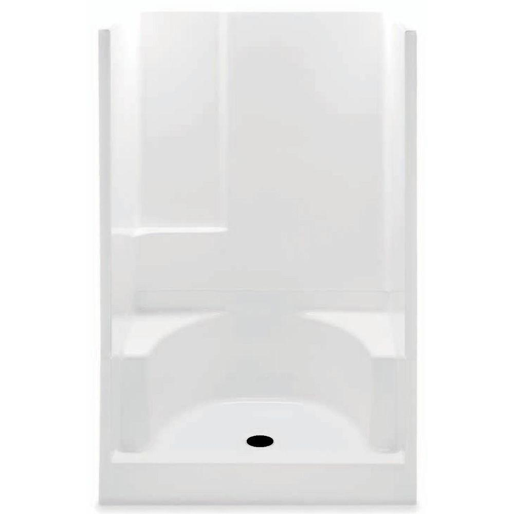 Aquatic Remodeline 48 in. x 34 in. x 72 in. Gelcoat 2-piece Shower ...