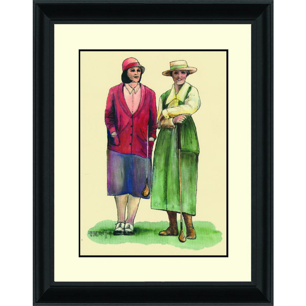 14.in x 16.in''Two Women Spectators'' By PTM Images Framed Printed