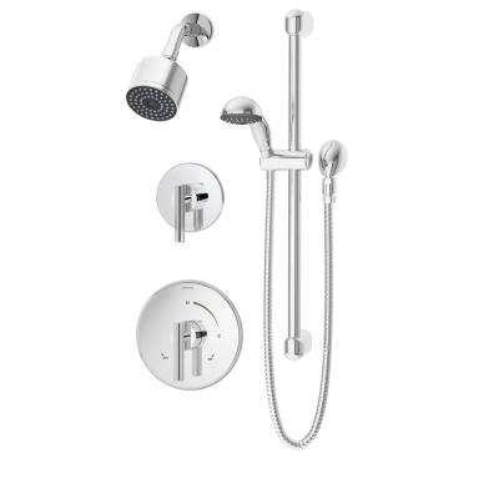 Dia Single-Handle Shower/Hand Shower Valve Trim Kit in Chrome (Valve Not Included)