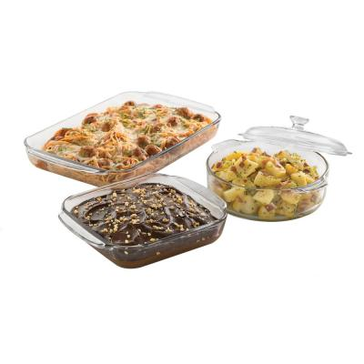Baker's Basics 3-Piece Glass Bake Set with Cover