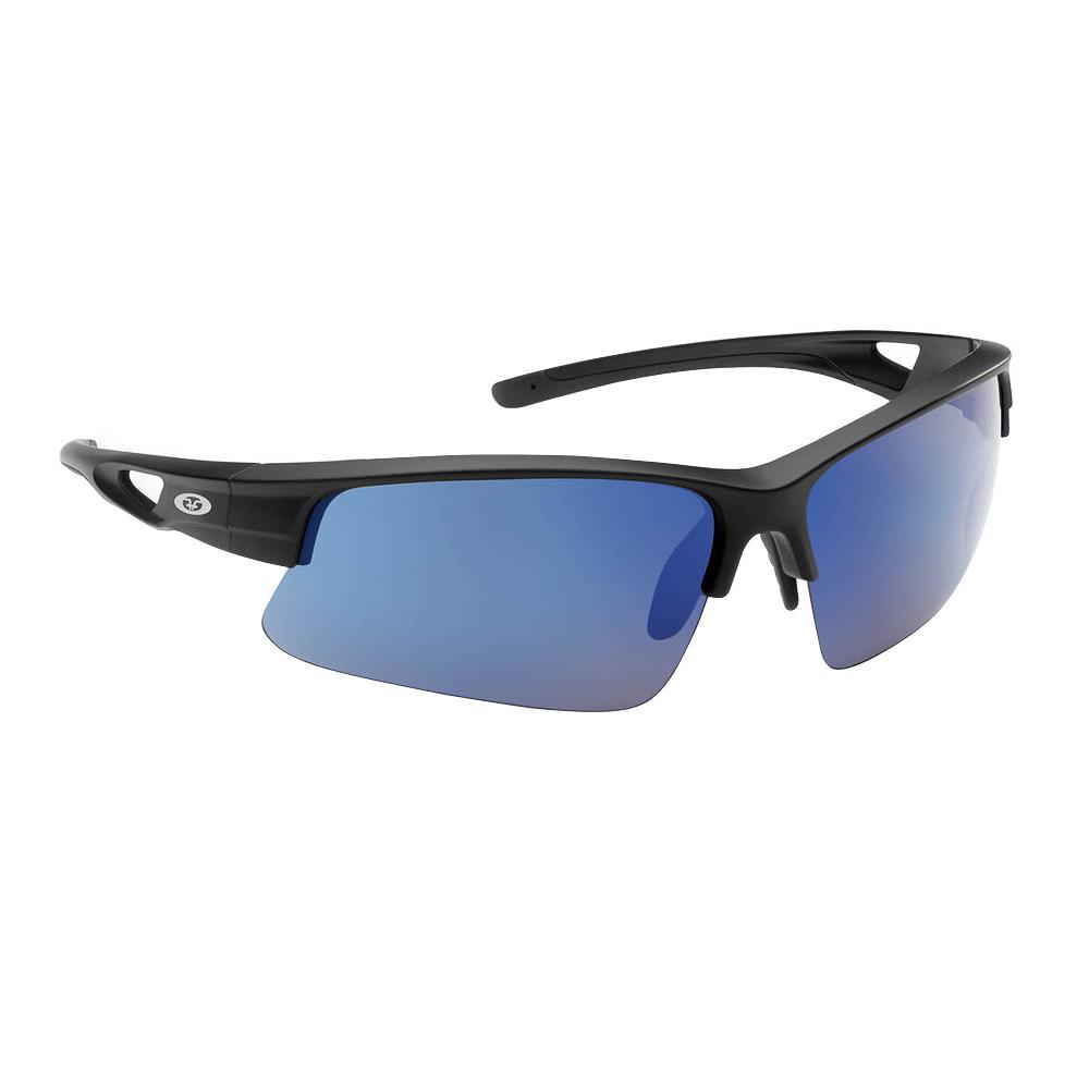 0f5fb298dade3 Flying Fisherman Moray Polarized Sunglasses Matte Black Frame with Smoke  Blue Mirror Lens