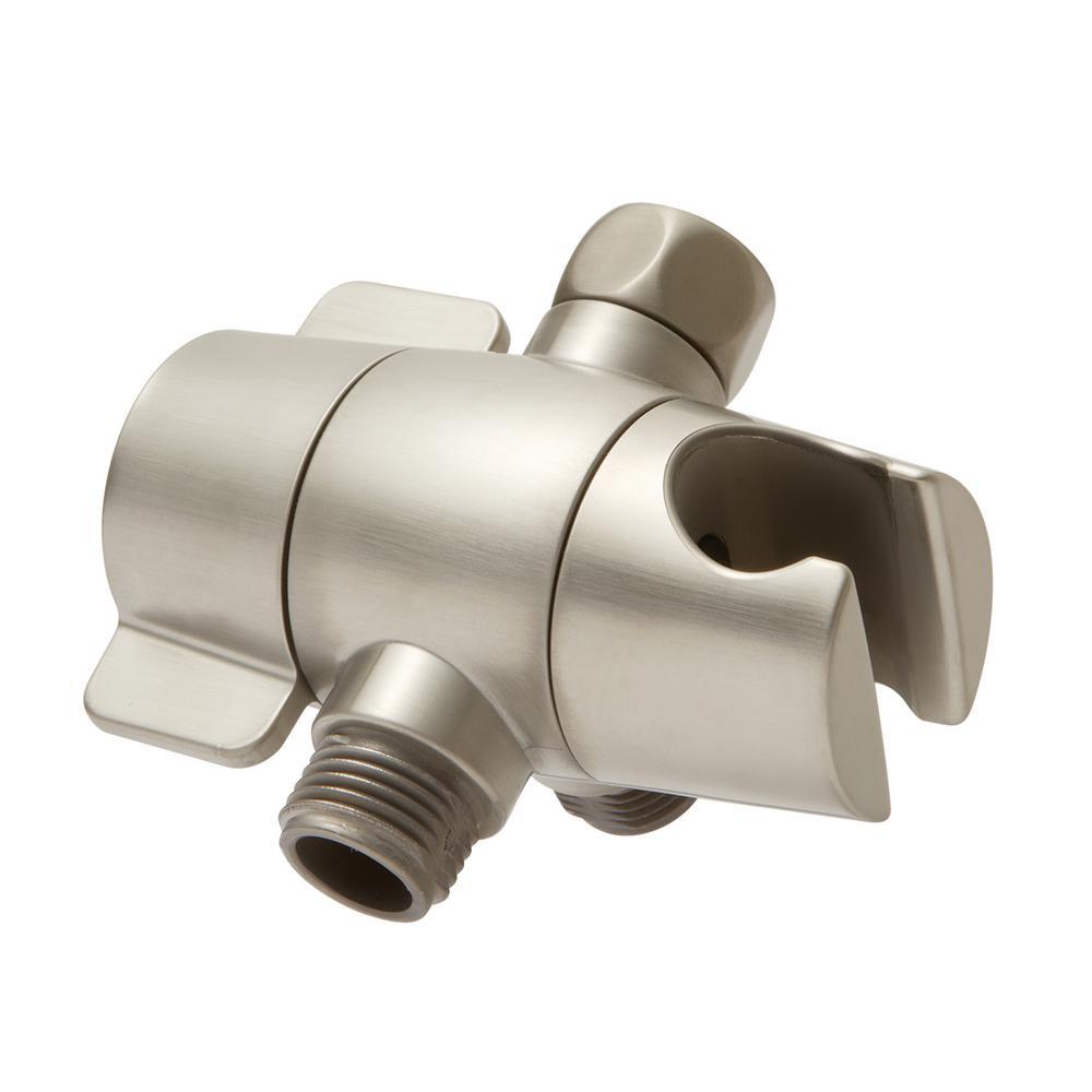 Shower Diverter in Brushed Nickel