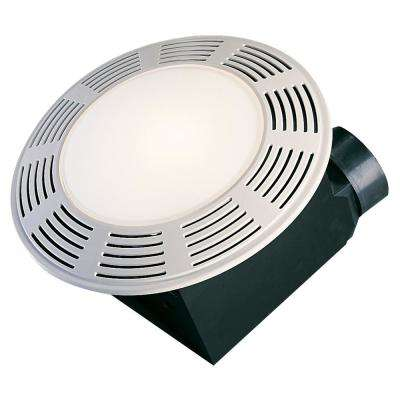 Deluxe White 100 CFM 3.5 Sone Ceiling Exhaust Fan, HVI Certified with Overhead Light