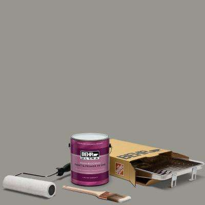 1 gal. #N360-4 Battleship Gray Ultra Eggshell Enamel Interior Paint and 5-Piece Wooster Set All-in-One Project Kit
