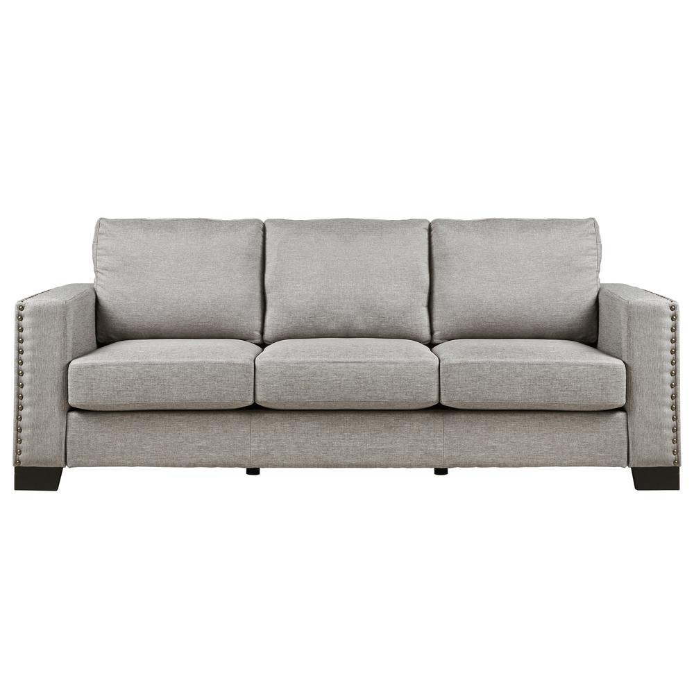 Smoke Grey Linen Sofa
