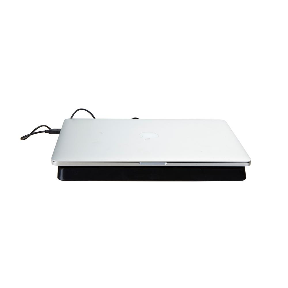 Mind Reader Plastic Laptop Cooling Pad USB Powered in Black