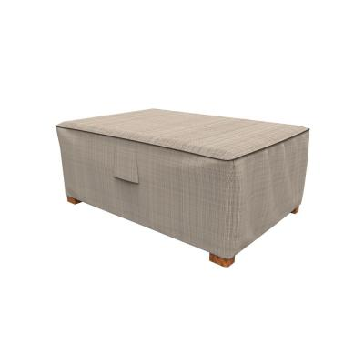 Rust-Oleum NeverWet Mojave 18 in. H x 33 in. W x 25 in. L Black Ivory Patio Ottoman Cover
