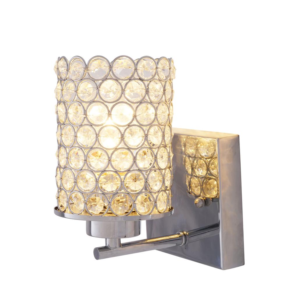 1 Light Chrome Wall Sconce by Home Decorators Collection