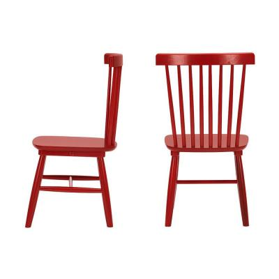StyleWell Chili Red Wood Windsor Dining Chair (Set of 2) (19.50 in. W x 35 in. H)