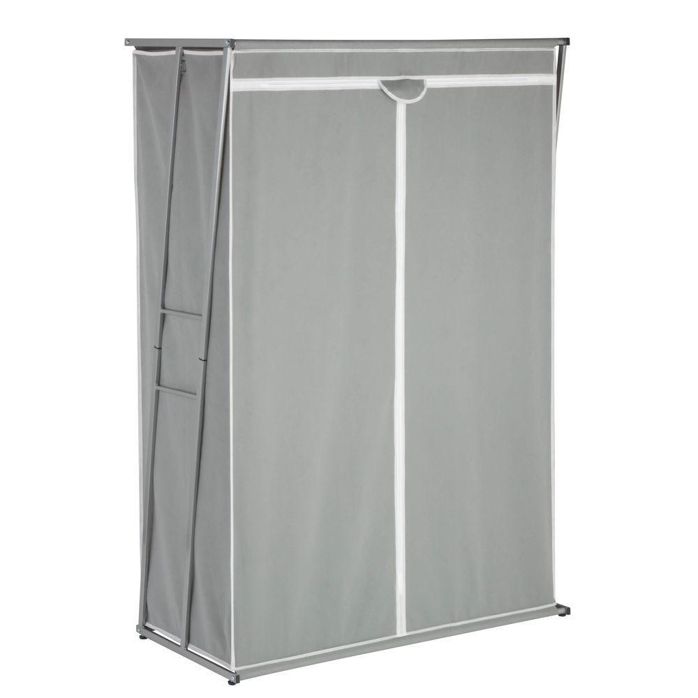 61.5 in. H x 46 in. W x 19.6 in. D Z-Frame Wardrobe Freestanding Cabinet